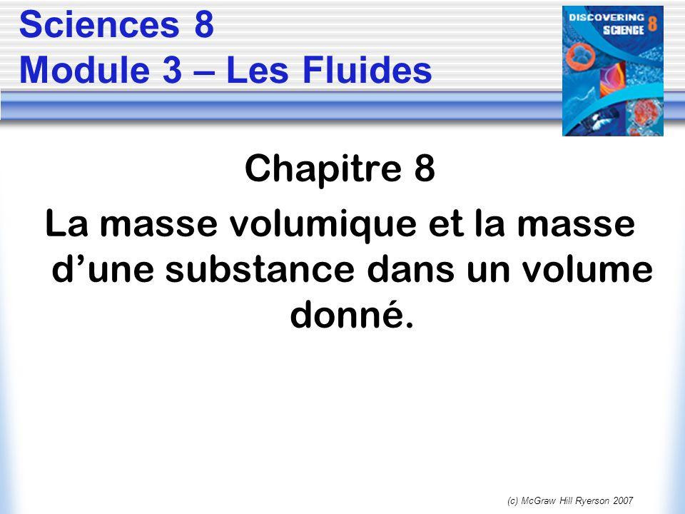 Sciences 8 Module 3 – Les Fluides