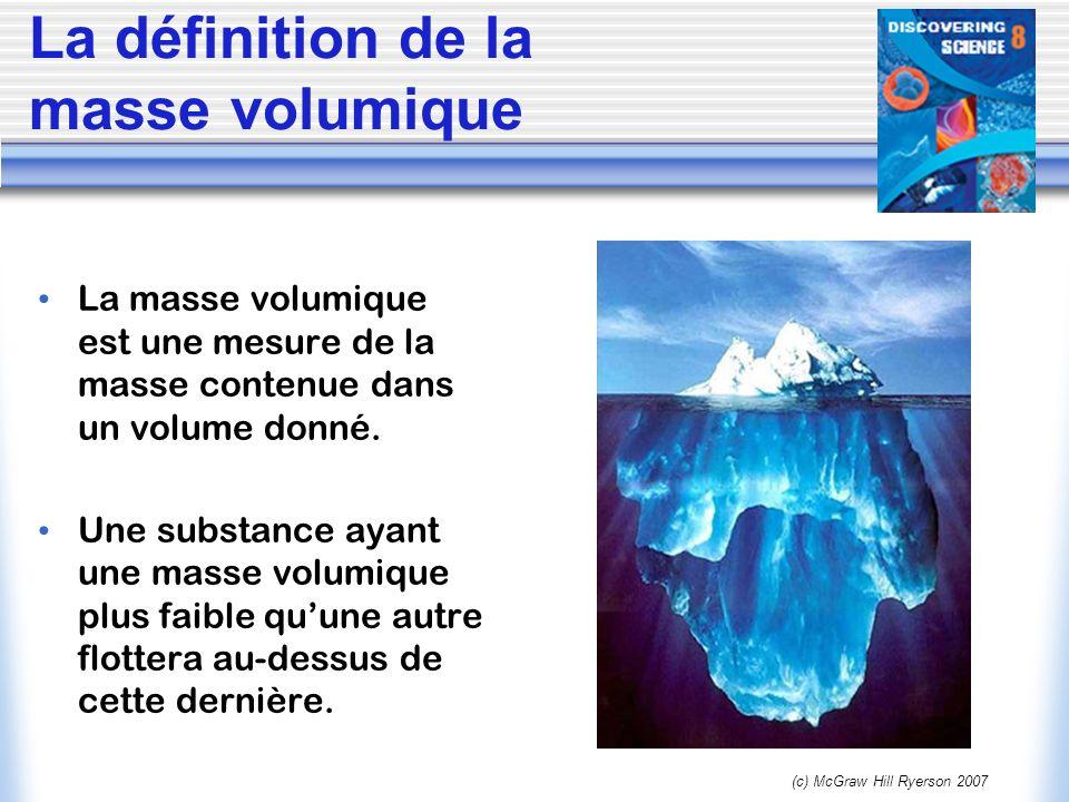 La définition de la masse volumique