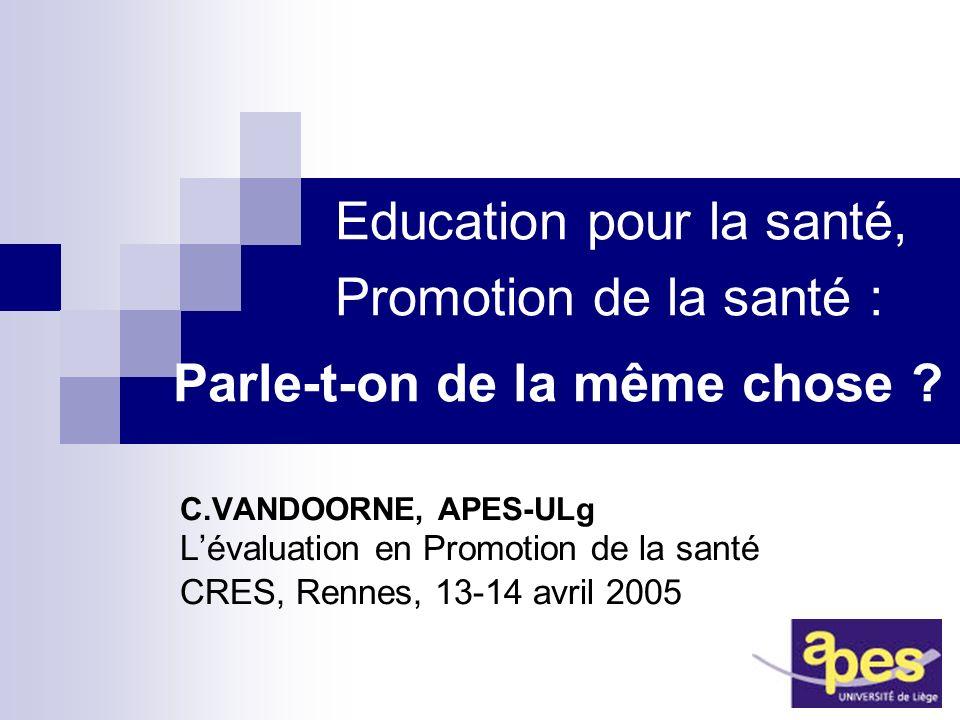 Education pour la santé,