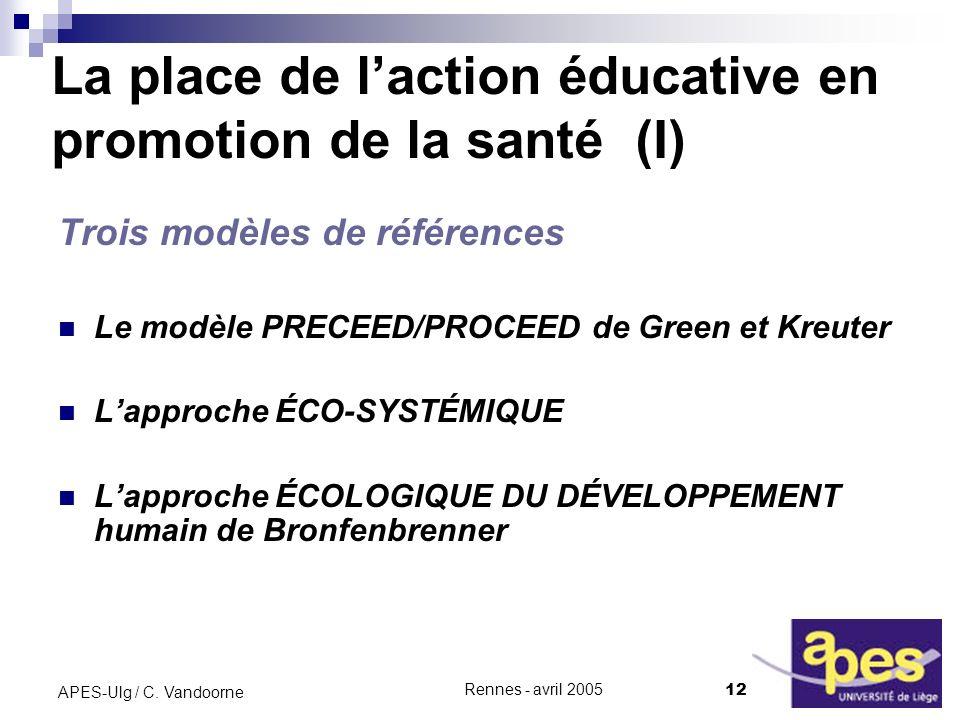 La place de l'action éducative en promotion de la santé (I)