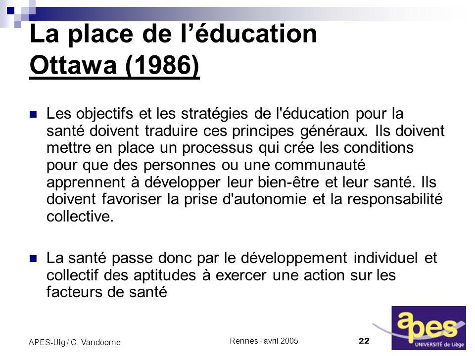 La place de l'éducation Ottawa (1986)