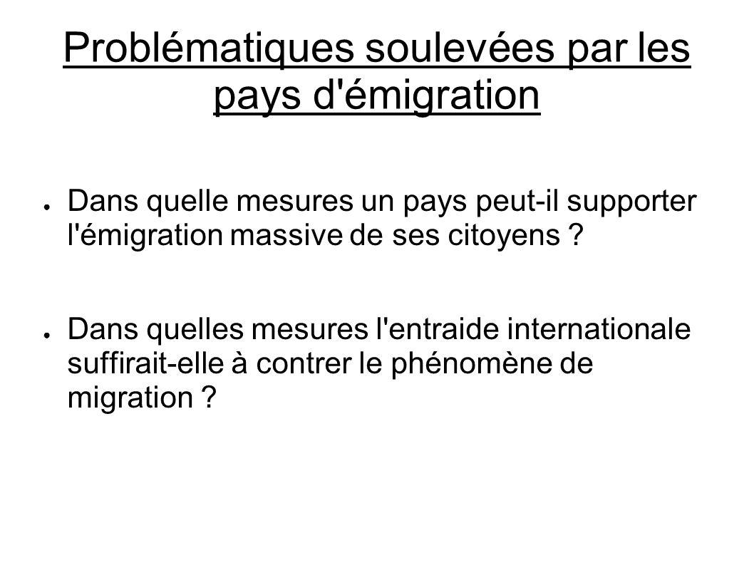 Problématiques soulevées par les pays d émigration