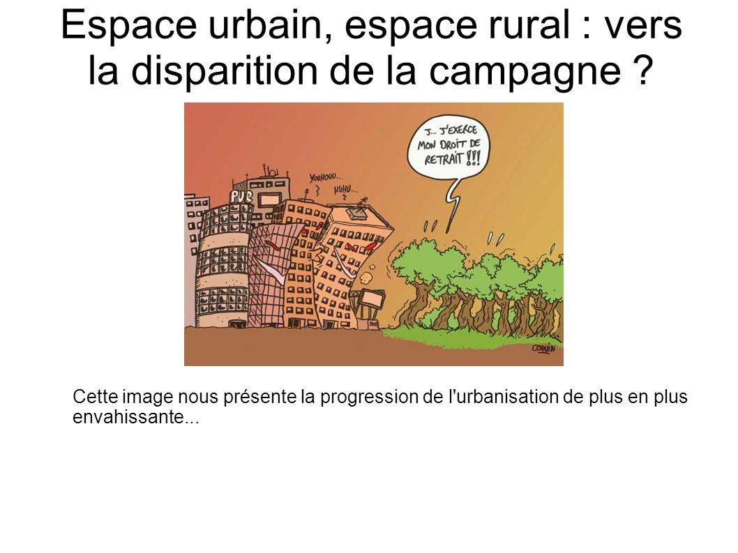 Espace urbain, espace rural : vers la disparition de la campagne