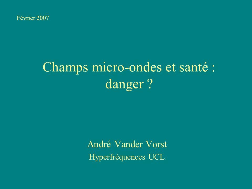 Champs micro-ondes et santé : danger