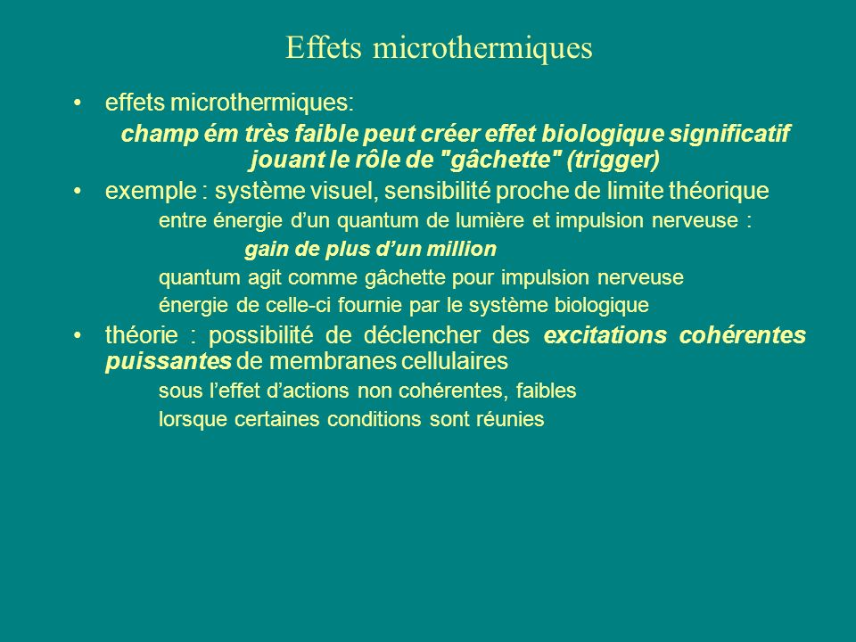 Effets microthermiques