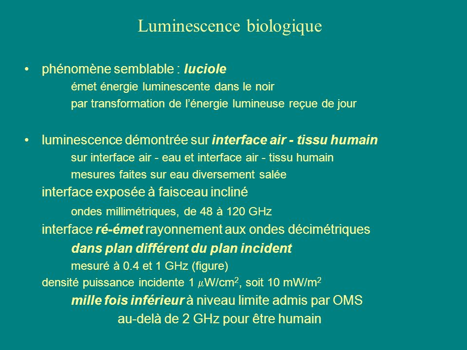 Luminescence biologique