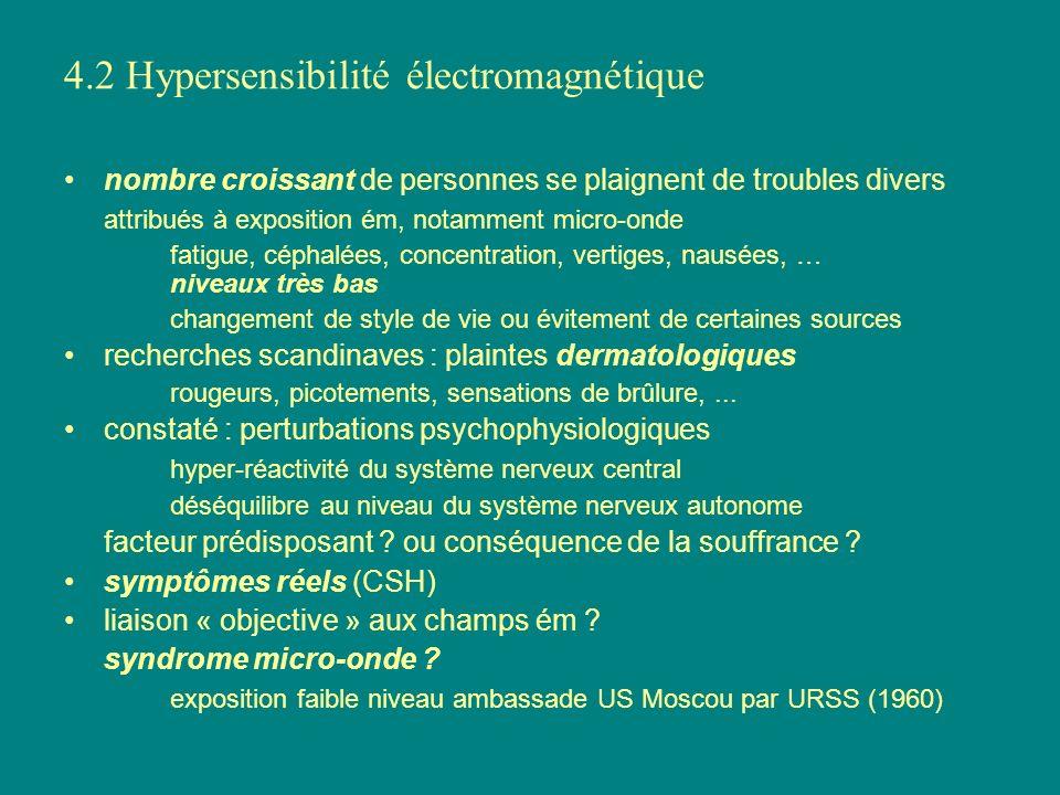 4.2 Hypersensibilité électromagnétique