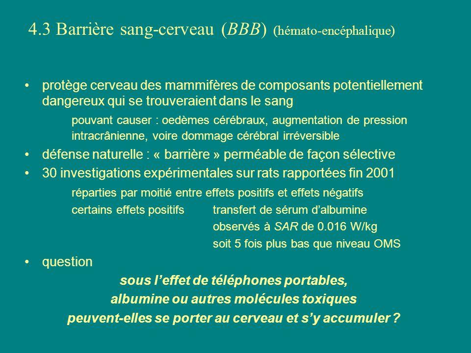 4.3 Barrière sang-cerveau (BBB) (hémato-encéphalique)