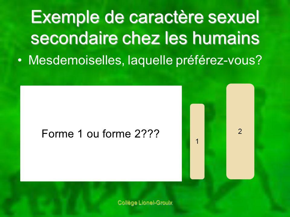 Exemple de caractère sexuel secondaire chez les humains