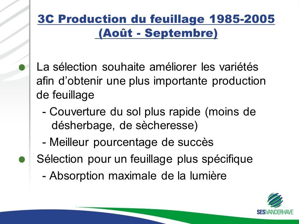 3C Production du feuillage 1985-2005 (Août - Septembre)