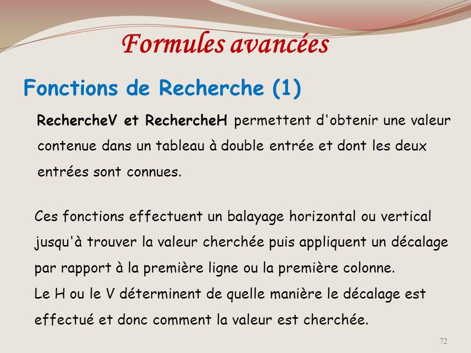 Fonctions de Recherche (1)