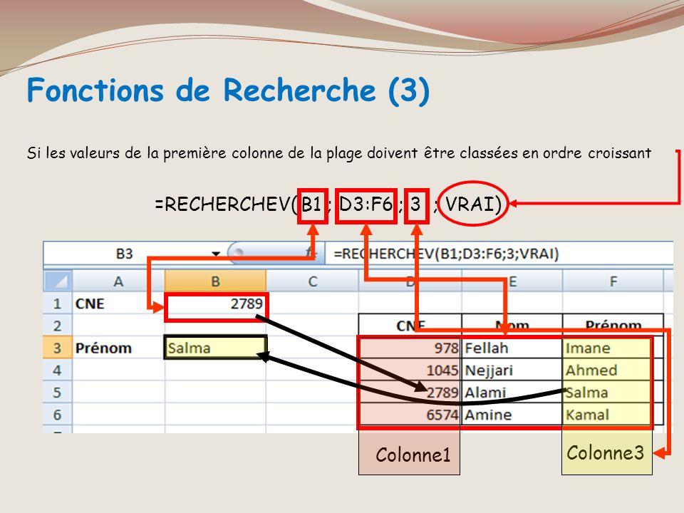 Fonctions de Recherche (3)