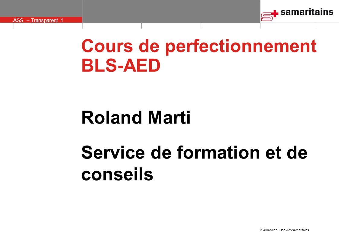 Cours de perfectionnement BLS-AED