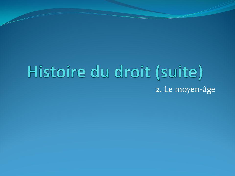 Histoire du droit (suite)