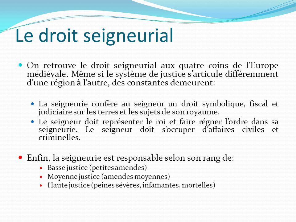 Le droit seigneurial
