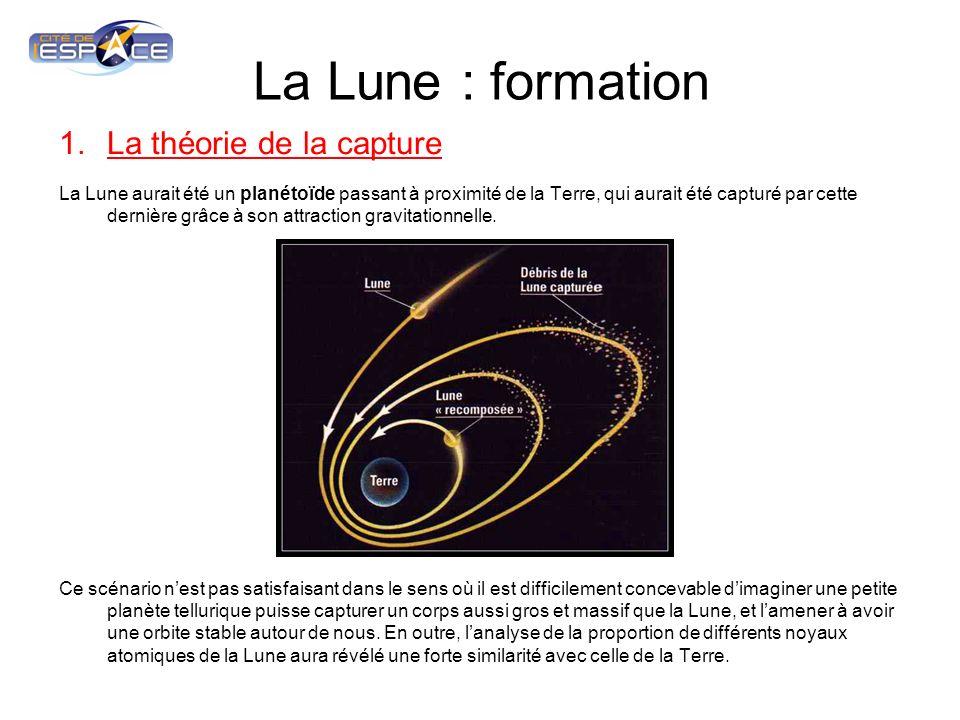La Lune : formation La théorie de la capture