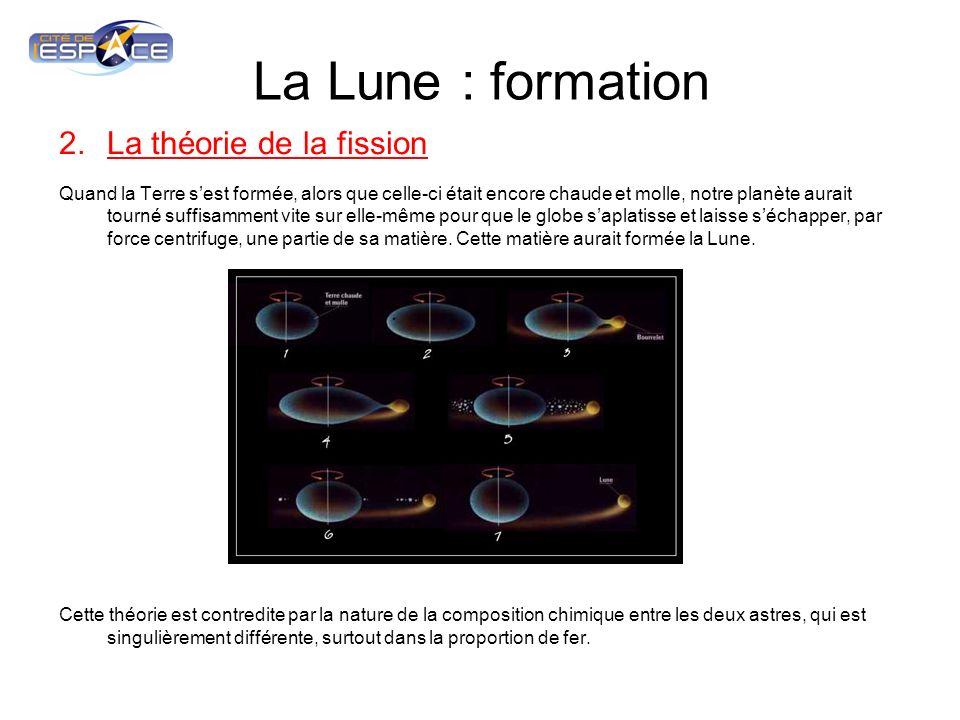 La Lune : formation La théorie de la fission