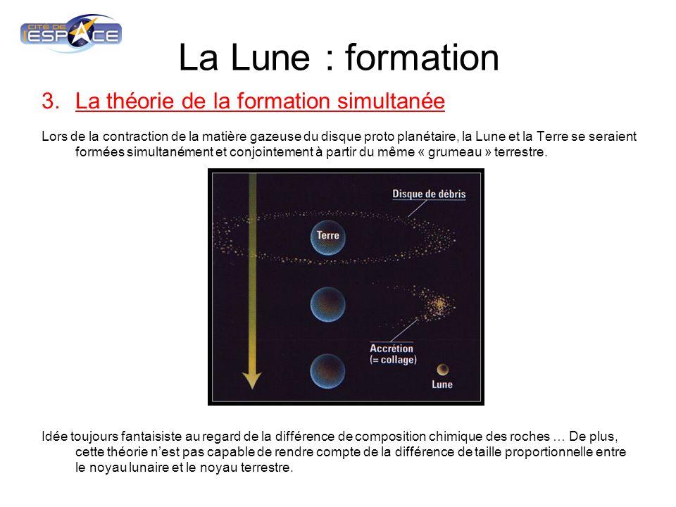 La Lune : formation La théorie de la formation simultanée