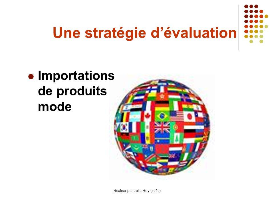 Une stratégie d'évaluation