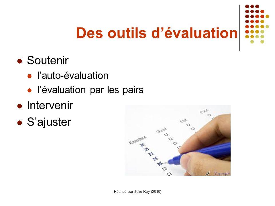 Des outils d'évaluation
