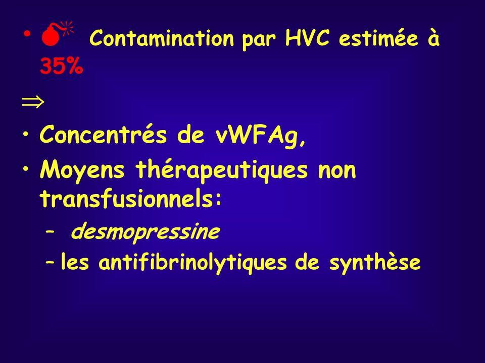  Contamination par HVC estimée à 35%