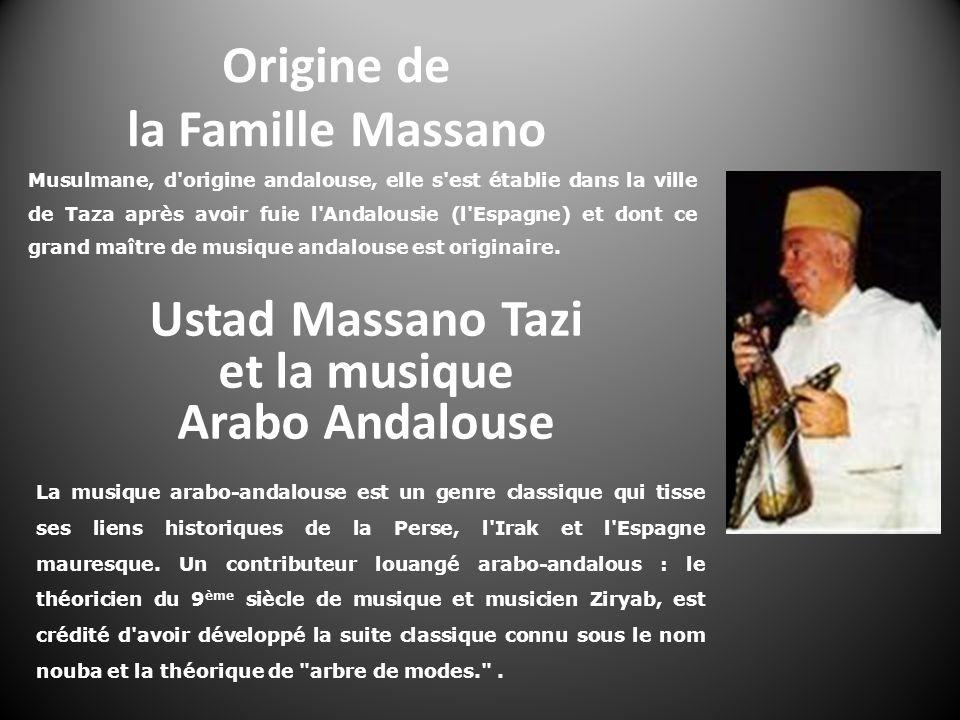 Ustad Massano Tazi et la musique Arabo Andalouse