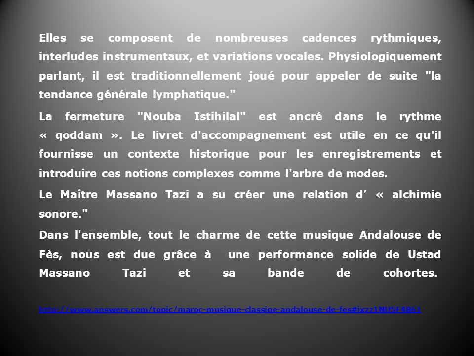 Le Maître Massano Tazi a su créer une relation d' « alchimie sonore.