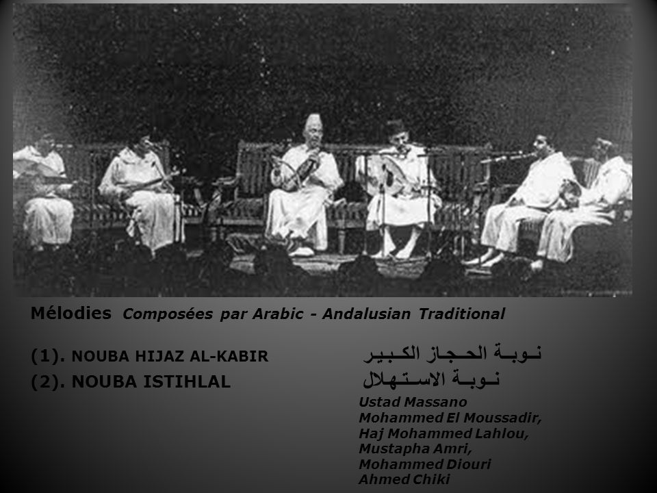 Mélodies Composées par Arabic - Andalusian Traditional