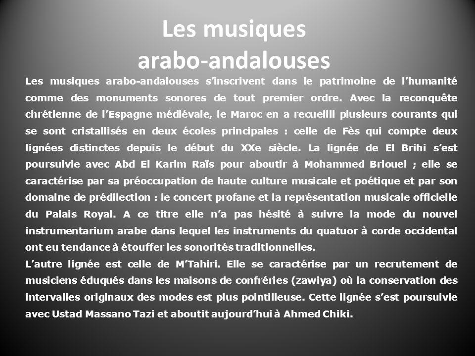 Les musiques arabo-andalouses