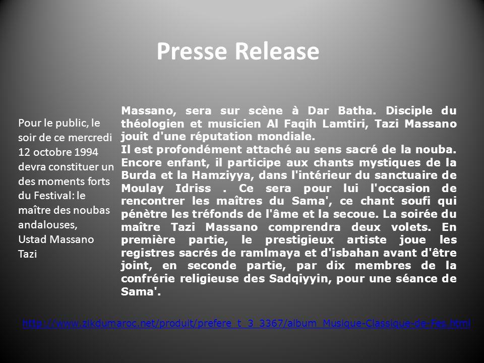 Presse Release