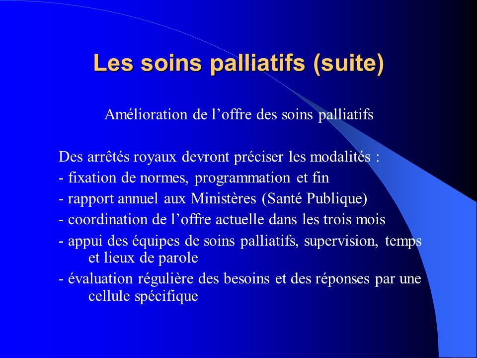 Les soins palliatifs (suite)