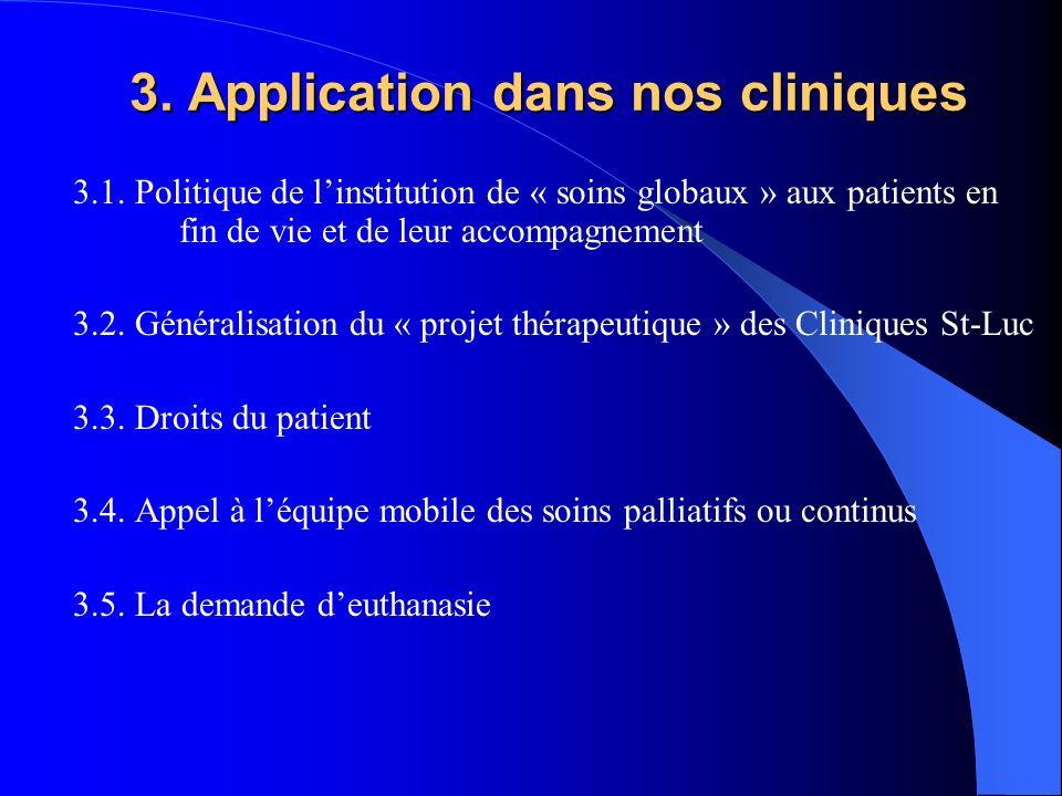 3. Application dans nos cliniques