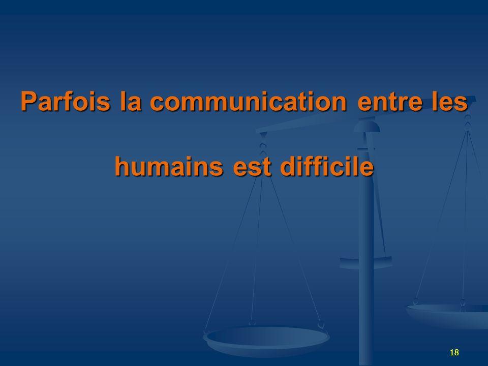 Parfois la communication entre les humains est difficile