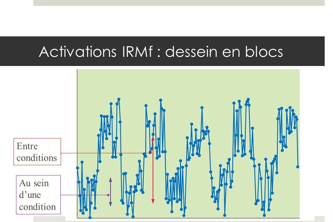 Activations IRMf : dessein en blocs