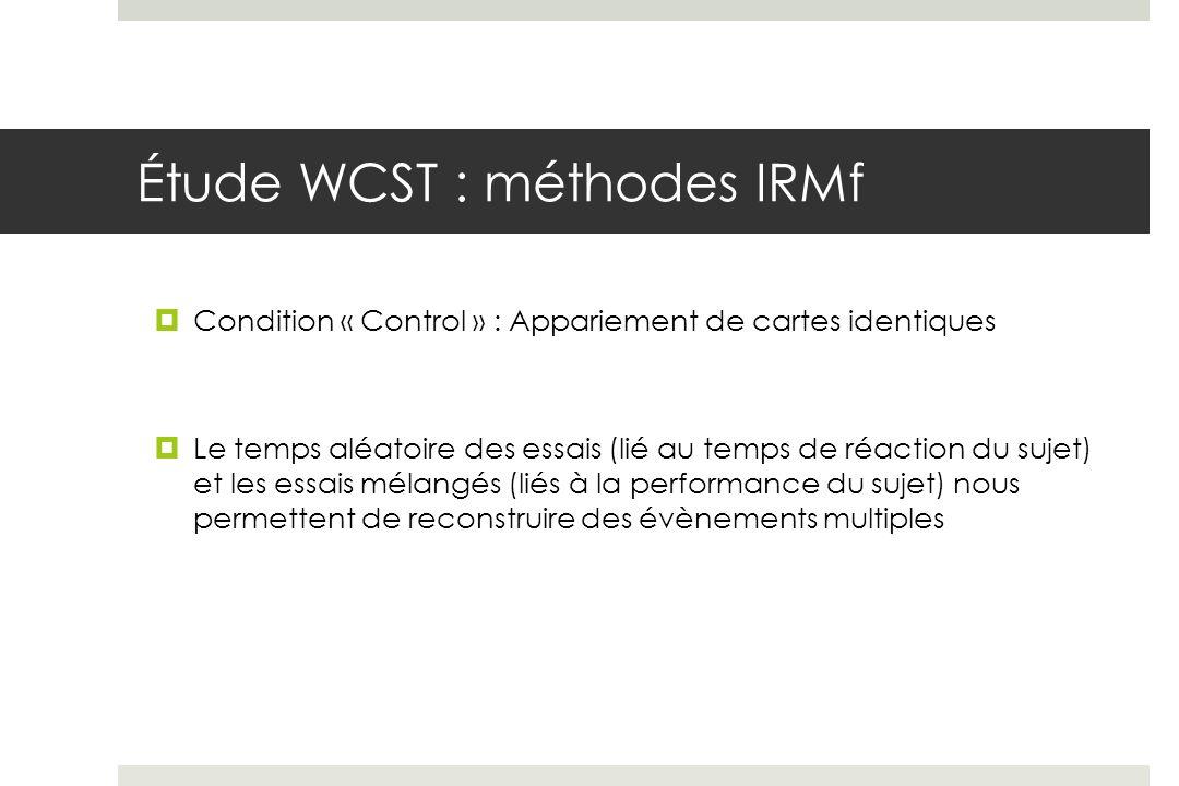 Étude WCST : méthodes IRMf