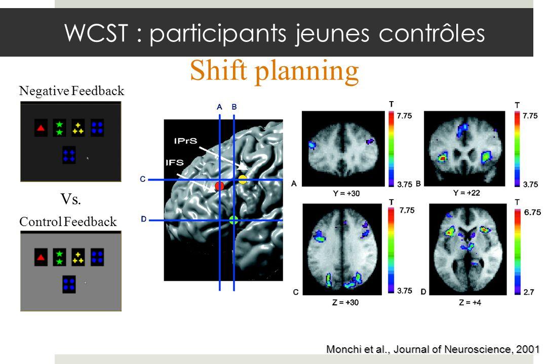 WCST : participants jeunes contrôles