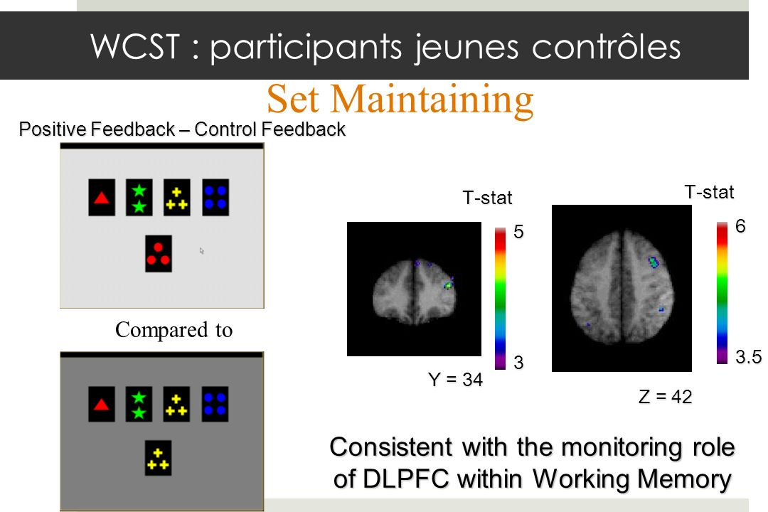 Consistent with the monitoring role of DLPFC within Working Memory