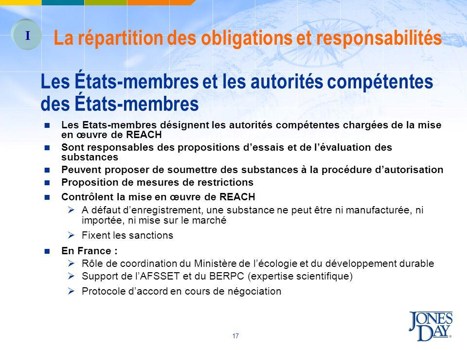 Les États-membres et les autorités compétentes des États-membres