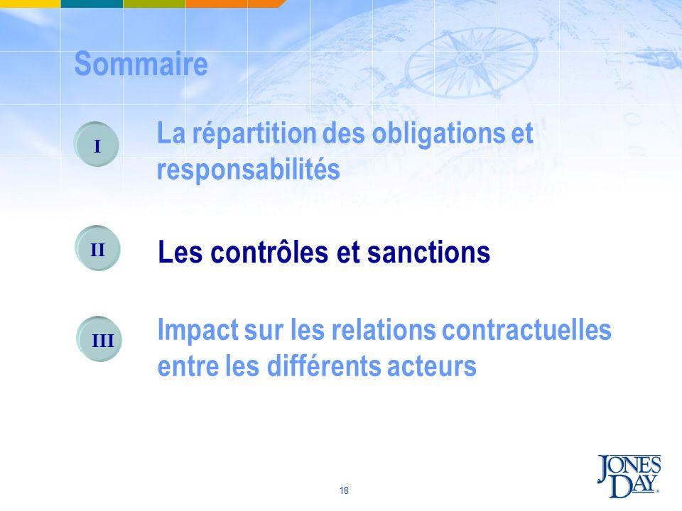 Sommaire Les contrôles et sanctions