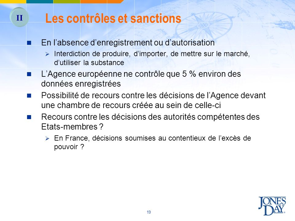 Les contrôles et sanctions