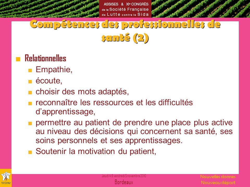 Compétences des professionnelles de santé (2)