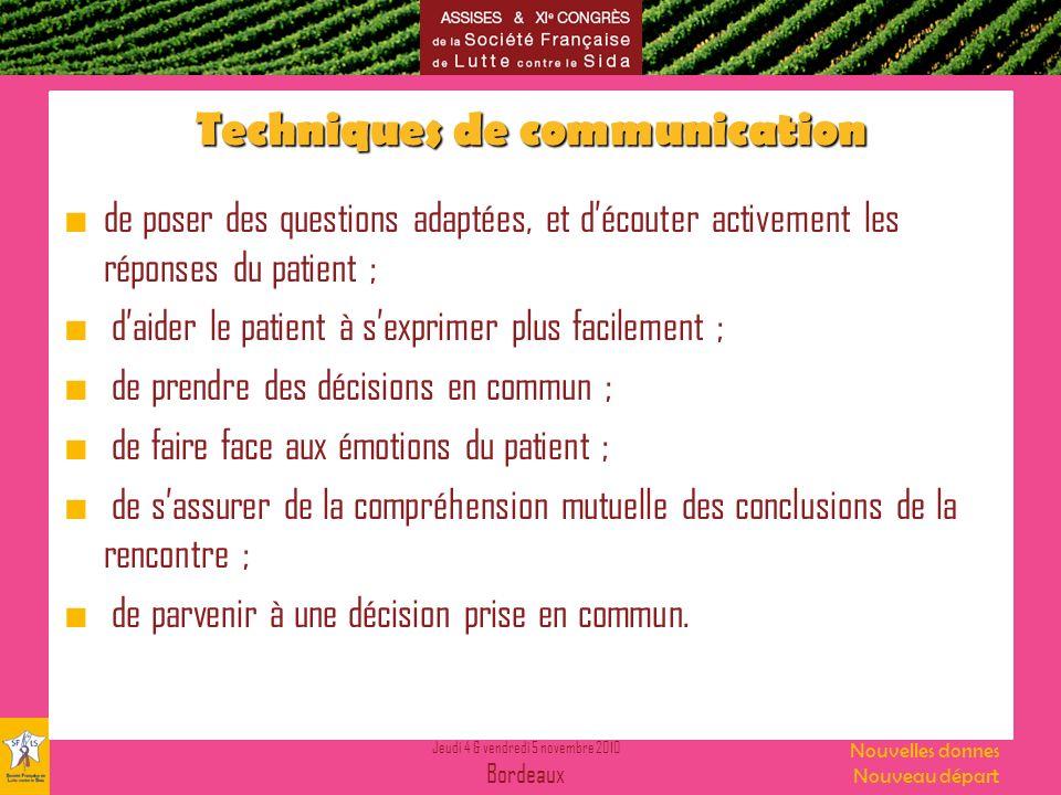 Techniques de communication