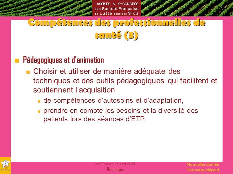 Compétences des professionnelles de santé (3)