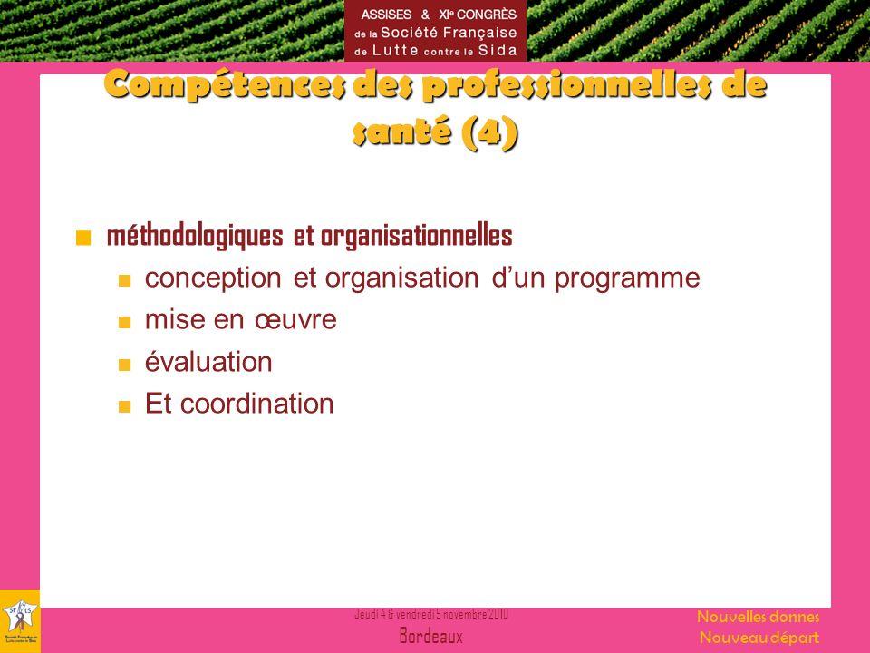 Compétences des professionnelles de santé (4)