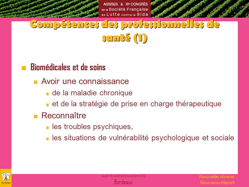 Compétences des professionnelles de santé (1)