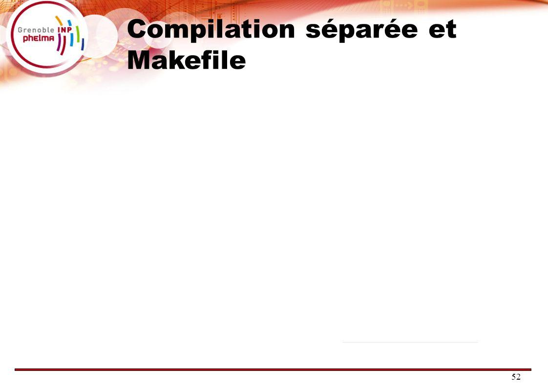 Compilation séparée et Makefile
