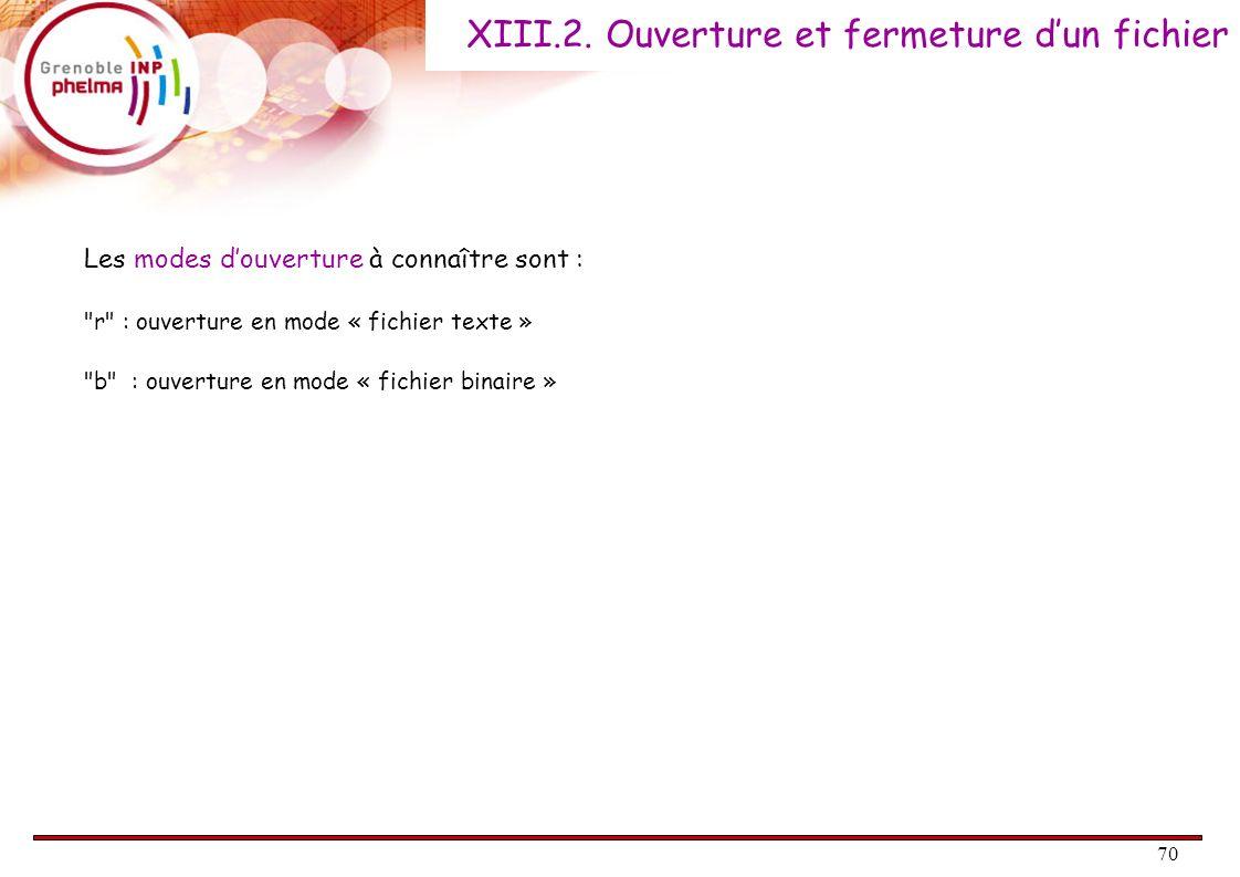 XIII.2. Ouverture et fermeture d'un fichier