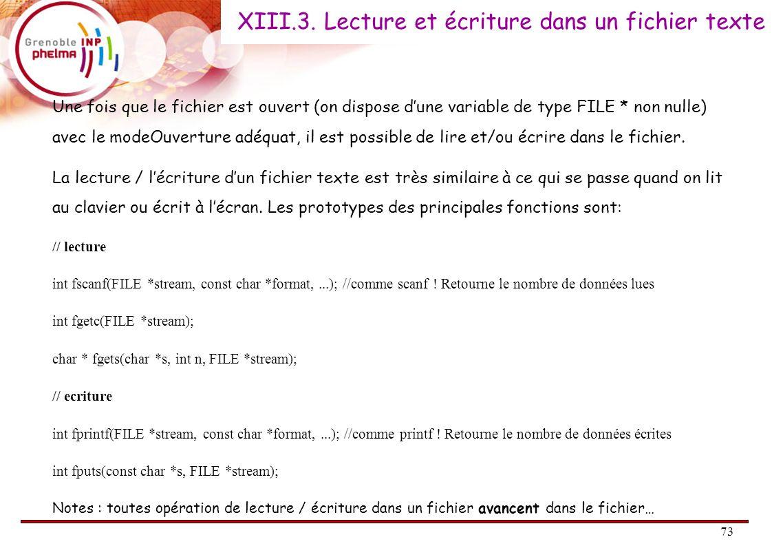XIII.3. Lecture et écriture dans un fichier texte