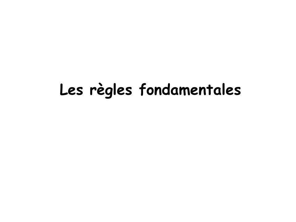Les règles fondamentales