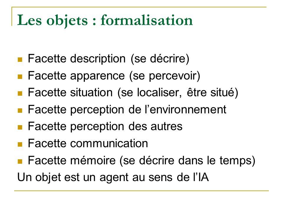Les objets : formalisation